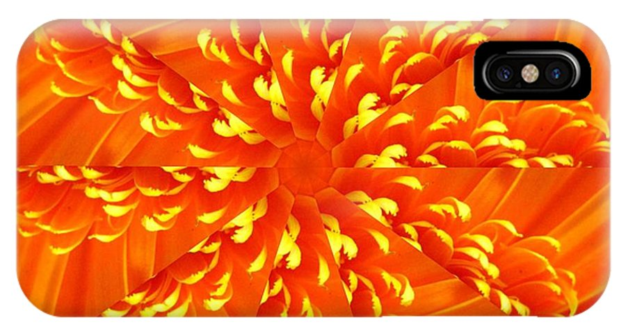 Flower IPhone X Case featuring the digital art Floral Sunrise by Rhonda Barrett