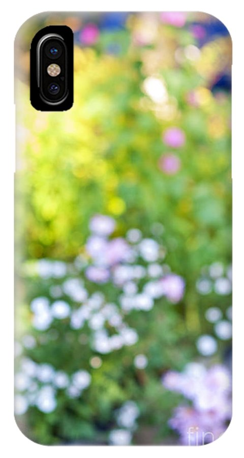 Flower IPhone X Case featuring the photograph Flower Garden In Sunshine by Elena Elisseeva