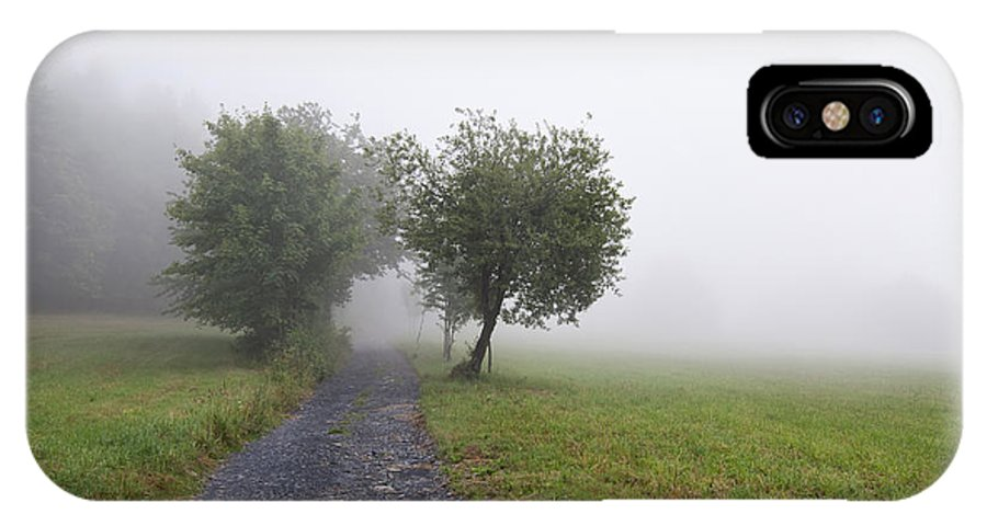 Meadow IPhone X Case featuring the photograph Foggy Landscape by Michal Boubin