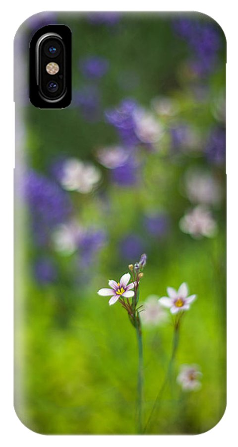 Flower IPhone X / XS Case featuring the photograph Garden Of Bliss by Mike Reid