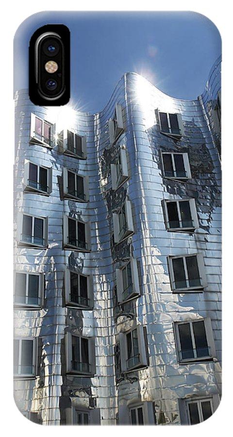 Der Neue Zollhof IPhone X / XS Case featuring the photograph Gehry's Der Neue Zollhof Buildings by Pasieka