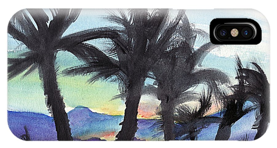 Palm Tree IPhone X Case featuring the painting Good Morning From Hawaii by Elizabeth Harshman
