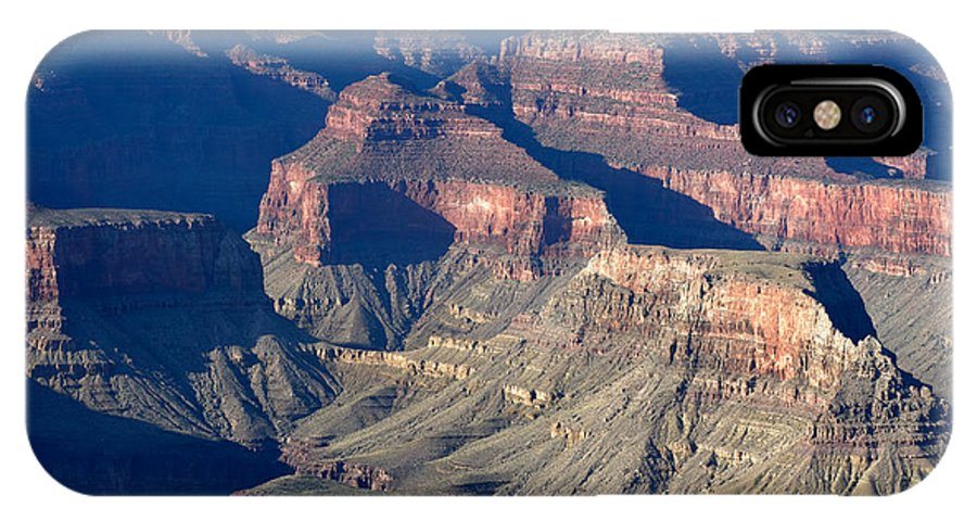 Grand Canyon IPhone X Case featuring the photograph Grand Canyon Shadows by Julie Niemela