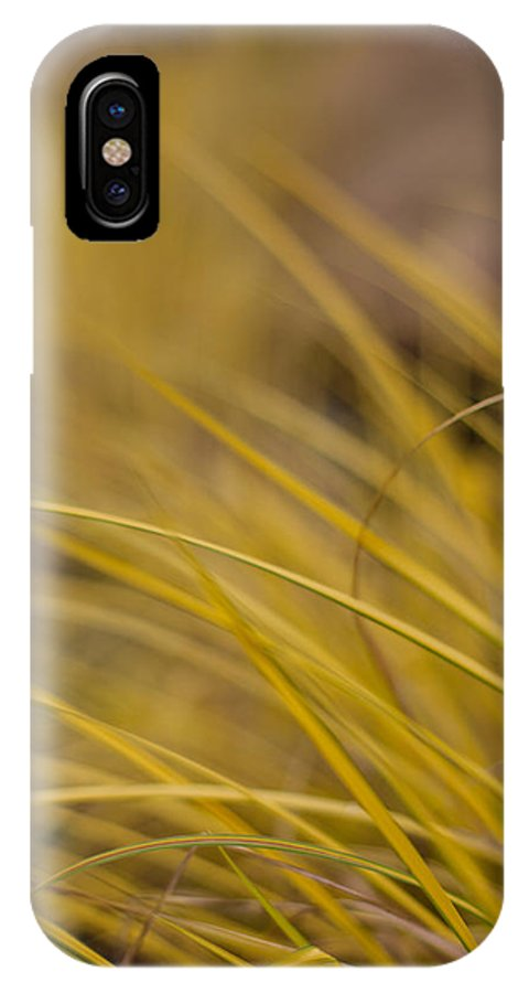 Grass IPhone X / XS Case featuring the photograph Grass Abstract 1 by Mike Reid