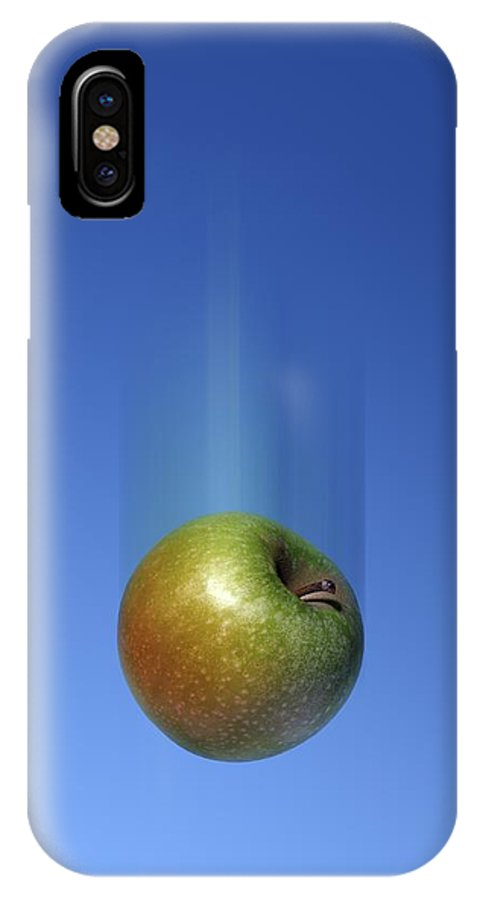 Fruit IPhone X / XS Case featuring the photograph Gravity, Conceptual Artwork by Detlev Van Ravenswaay