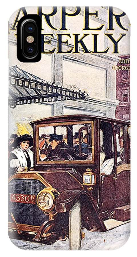 1913 IPhone X Case featuring the photograph Harpers Weekly, 1913 by Granger