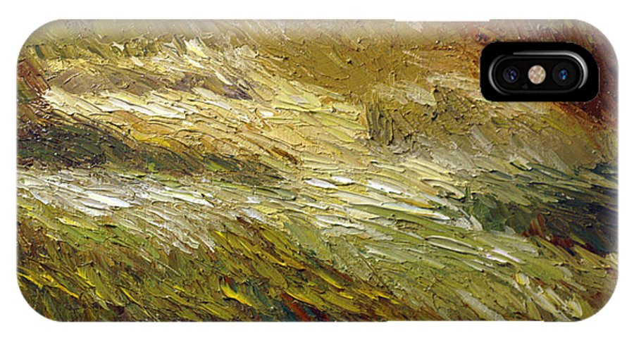 Grass IPhone X Case featuring the painting Harvest Grass by Raette Meredith