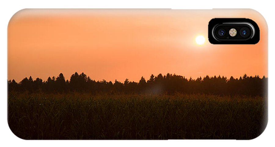 Sunset IPhone X Case featuring the photograph Hazy Summer Sunset by Ian Middleton