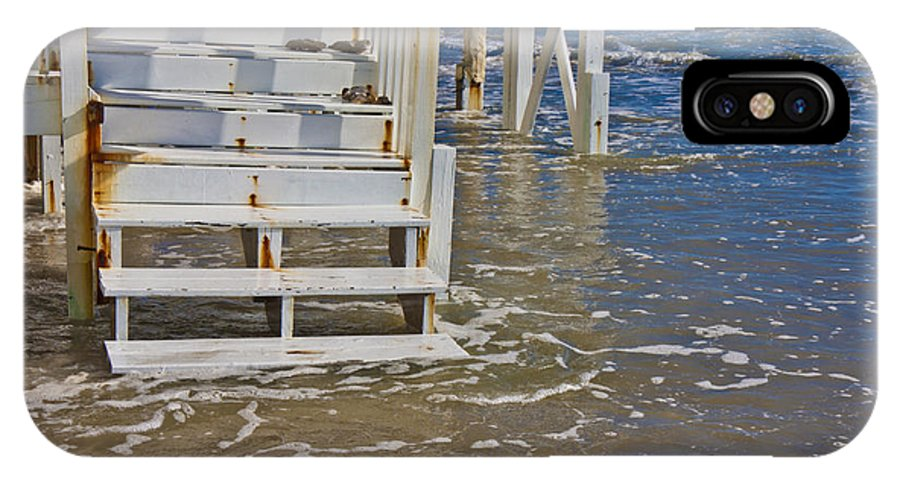 Topsail IPhone X Case featuring the photograph Incoming Tide by Betsy Knapp