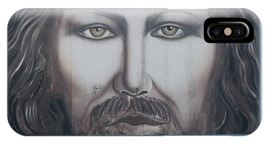 Scenic IPhone X Case featuring the photograph Jesus On The Street by Rob Hans