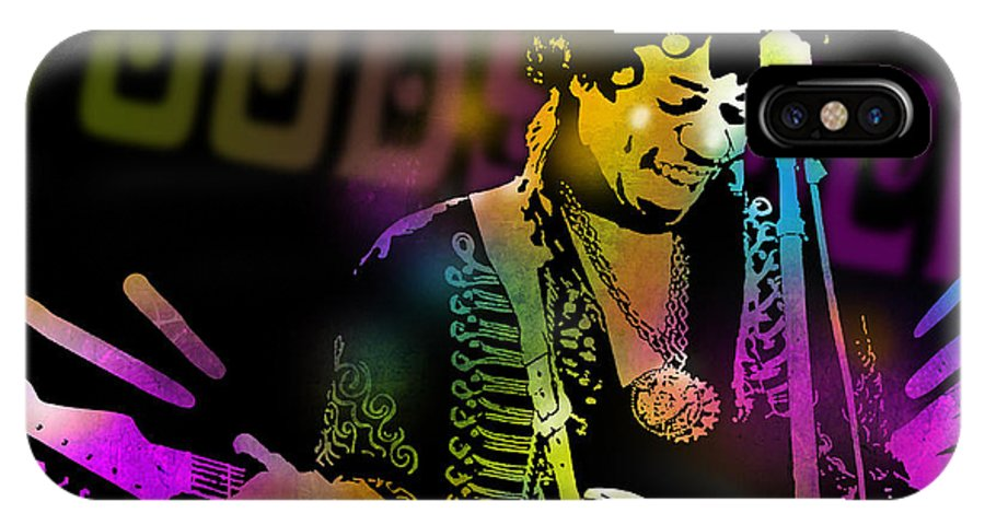 Blues IPhone X / XS Case featuring the painting Jimi Hendrix by Paul Sachtleben