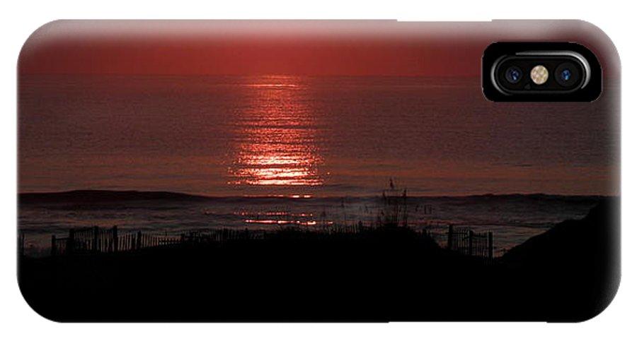 Sunrise IPhone X Case featuring the photograph Just A Peak by Kim Galluzzo Wozniak