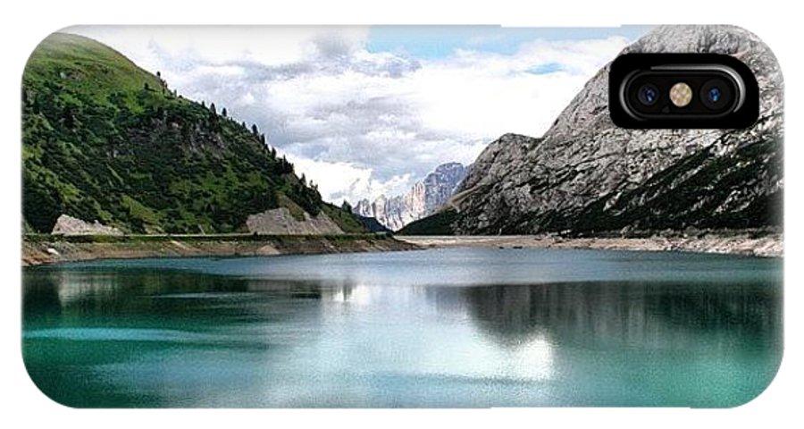 Dolomiti IPhone X Case featuring the photograph Lago Fedaia by Luisa Azzolini