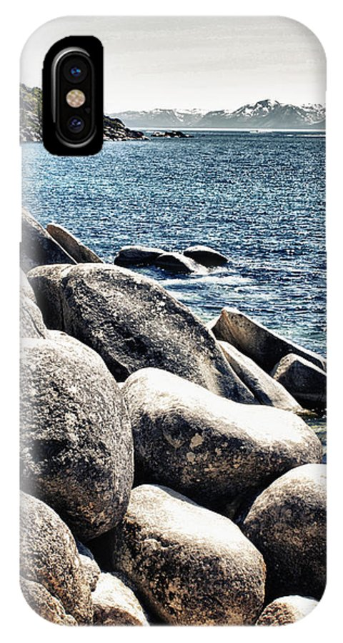 Lake Tahoe IPhone X Case featuring the photograph Lake Tahoe Vista by Linda Dunn