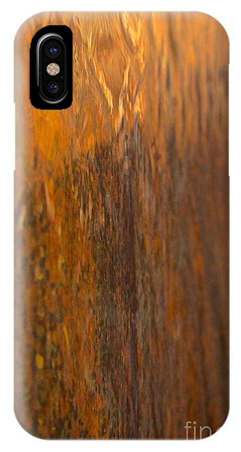 Outdoors IPhone X Case featuring the photograph Liquid Gold by Susan Herber