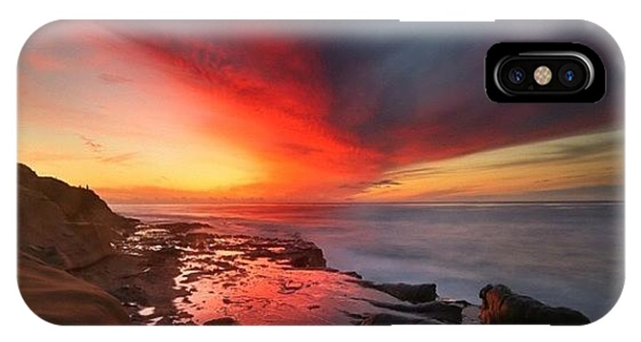 IPhone X Case featuring the photograph Long Exposure Sunset In La Jolla by Larry Marshall