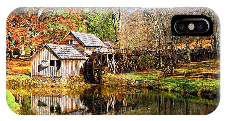 Blue Ridge Parkway IPhone X Case featuring the photograph Mabry Mill by Ronald Lutz