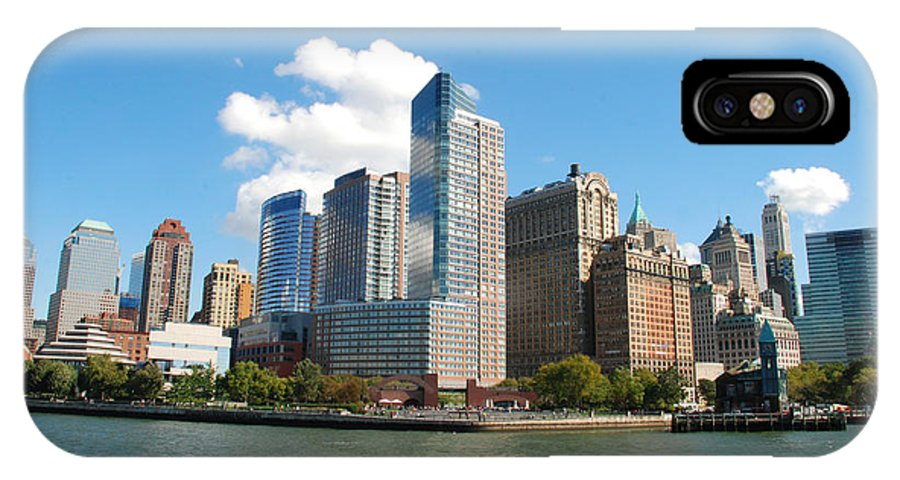Skyline IPhone X Case featuring the photograph Manhattan Skyline by Perry Van Munster