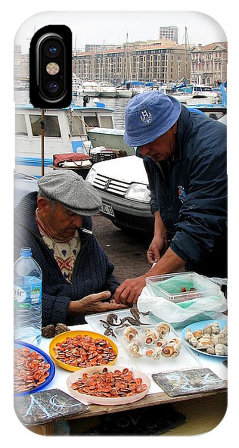 Marseilles IPhone X Case featuring the photograph Marseilles Fishermen by Carla Parris