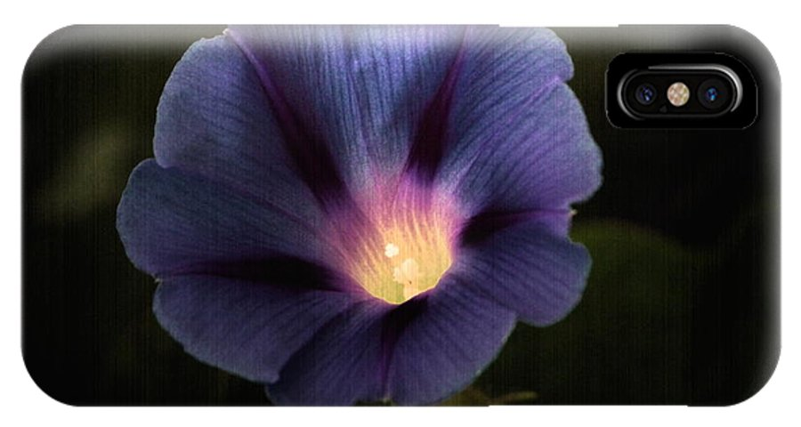 Morning Glory IPhone X Case featuring the photograph Morning Glory by Marjorie Imbeau