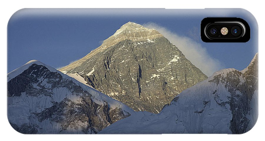 Asia IPhone X / XS Case featuring the photograph Mount Everest Standing At 29,028 Feet by Michael S. Lewis