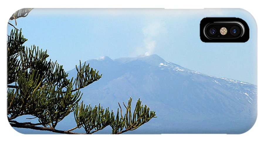 Mt. IPhone X Case featuring the photograph Mt. Etna by Carla Parris