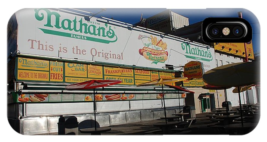 Brooklyn IPhone X Case featuring the photograph Nathan's Famous by Rob Hans
