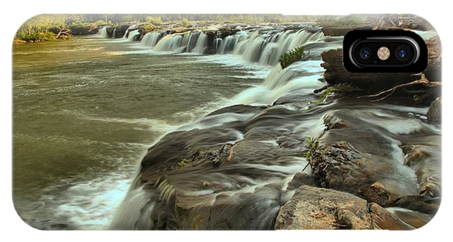 West Virginia Waterfalls IPhone X Case featuring the photograph New River Waterfall by Adam Jewell