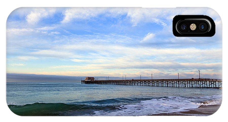 Balboa IPhone X Case featuring the photograph Newport Beach Pier by Paul Velgos