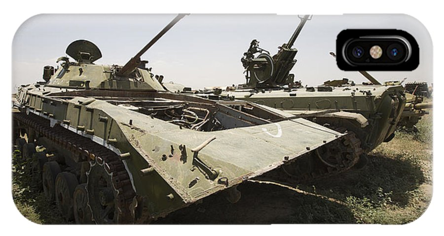 Relic IPhone X Case featuring the photograph Old Russian Bmp-1 Infantry Fighting by Terry Moore