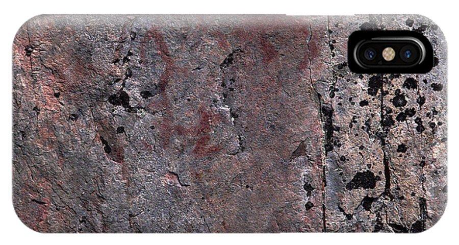 Lehtokukka IPhone X Case featuring the photograph Painted Rocks At Hossa With Stone Age Paintings by Jouko Lehto