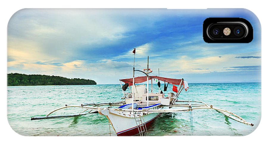 Boat IPhone X Case featuring the photograph Philippine Boat by MotHaiBaPhoto Prints