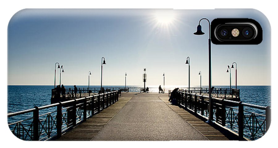 Pier IPhone X Case featuring the photograph Pier In Backlight by Mats Silvan