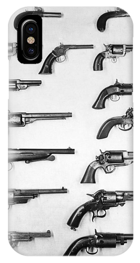 18th Century IPhone X Case featuring the photograph Pistols And Revolvers by Granger