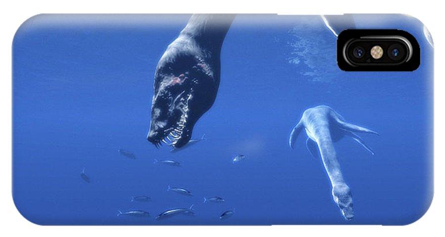 Plesiosaurus IPhone X / XS Case featuring the photograph Plesiosaurs by Christian Darkin