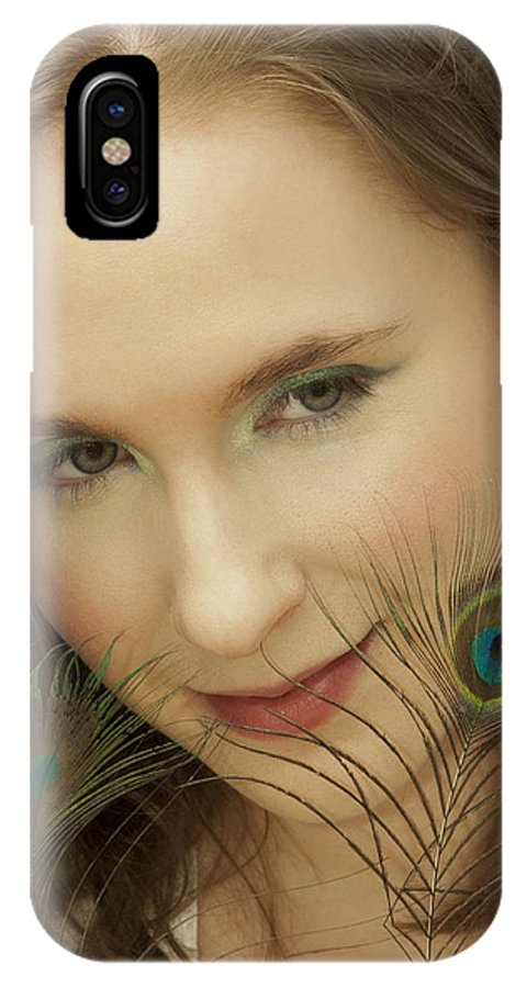 Eyes IPhone X Case featuring the photograph Portrait by Daniel Csoka