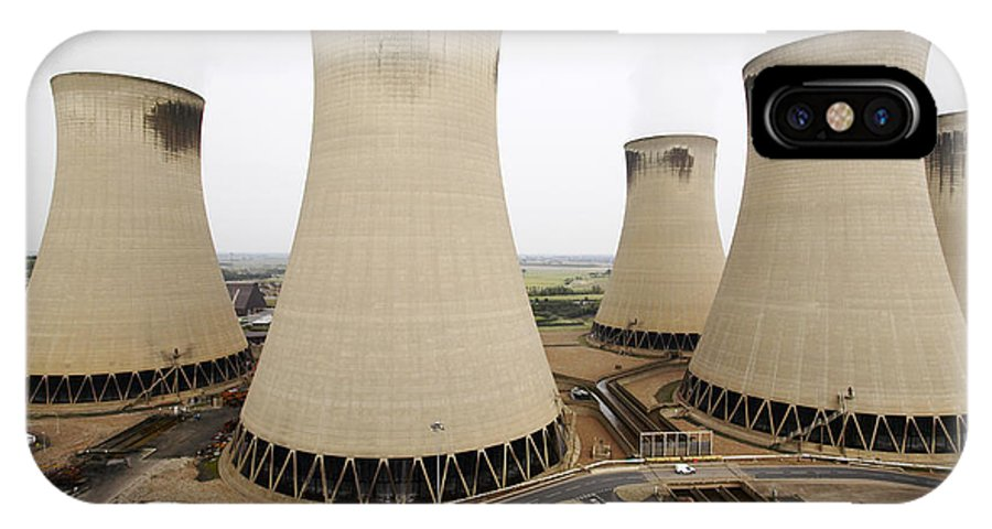 Drax Power Station IPhone X / XS Case featuring the photograph Power Station Cooling Towers by Colin Cuthbert