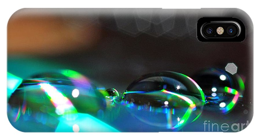 Gouttes IPhone X Case featuring the photograph Rainbow Drops by Sylvie Leandre