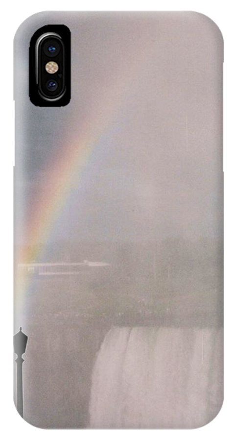 Waterfall IPhone X Case featuring the photograph Rainbow Falls by Pharris Art