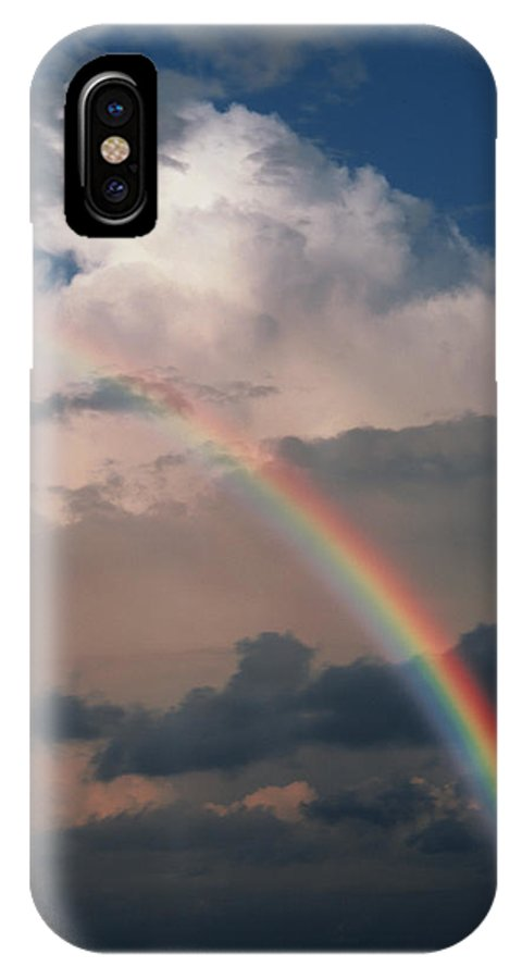 Rainbow IPhone X / XS Case featuring the photograph Rainbow by Phil Jude