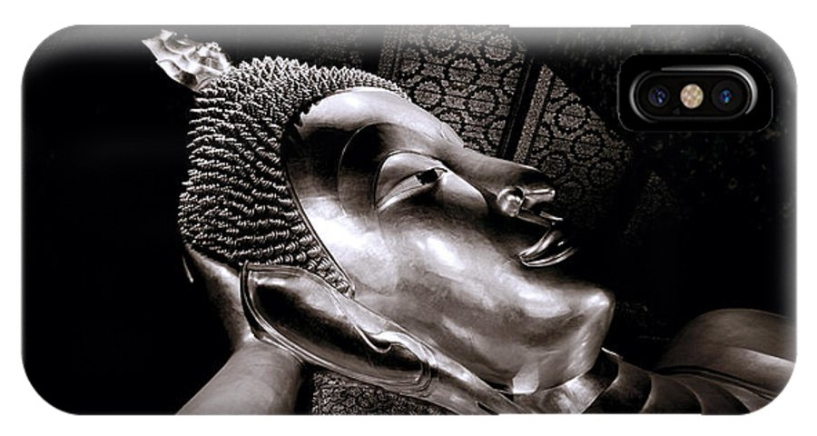 Wat IPhone X Case featuring the photograph Reclining Buddha by Shaun Higson