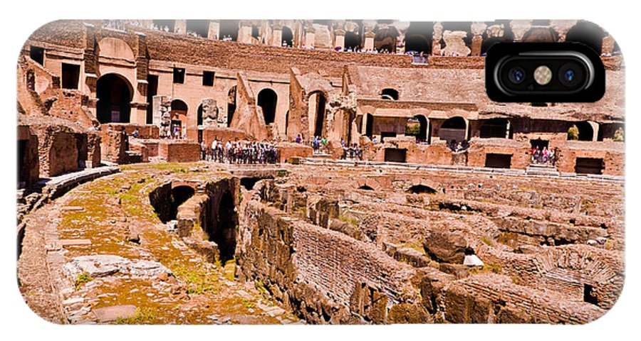 Rome IPhone X Case featuring the photograph Roman Coliseum by Jon Berghoff