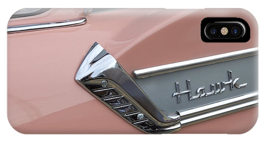 Classic Car IPhone X Case featuring the photograph Route 66 Studebaker Hawk by Bob Christopher