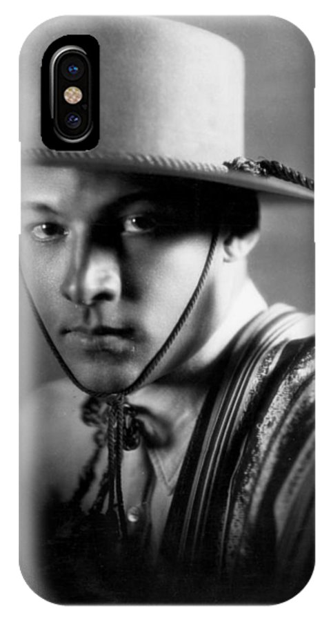 -nec12- IPhone X Case featuring the photograph Rudolph Valentino by Granger