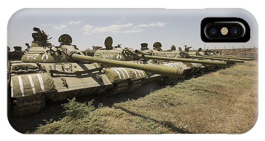 Turret IPhone X Case featuring the photograph Russian T-54 And T-55 Main Battle Tanks by Terry Moore
