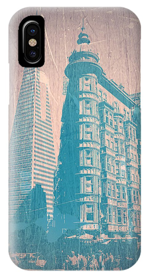 San Francisco IPhone X Case featuring the photograph San Fransisco by Naxart Studio