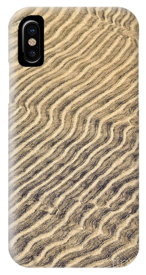 Sand IPhone X Case featuring the photograph Sand Ripples In Shallow Water by Elena Elisseeva