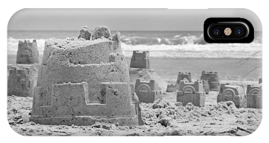 Sandcastle IPhone X Case featuring the photograph Sandcastle by Betsy Knapp