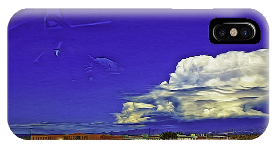 Santa Fe IPhone X Case featuring the photograph Santa Fe Drive - New Mexico by Madeline Ellis