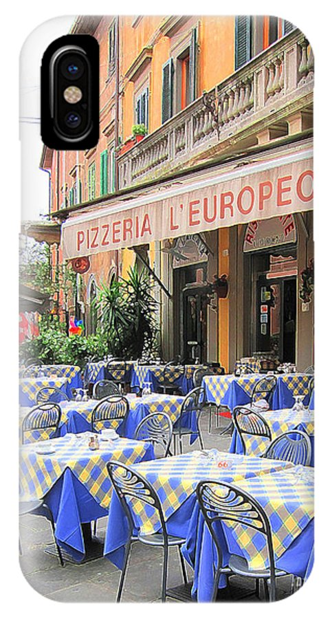 Sidewalk Cafe IPhone X Case featuring the photograph Sidewalk Cafe In Italy by Jack Schultz